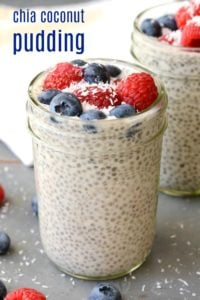Chia Coconut Pudding is a healthy, filling snack that tastes like dessert. Try this gluten-free, vegan recipe for a guilt-free treat!