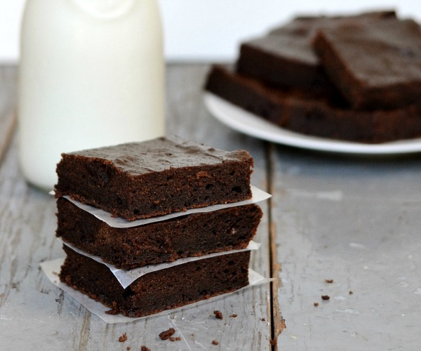 Pumpkin brownies, an easy, healthy dessert recipe