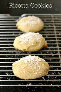 Homemade ricotta cookies are an Easter tradition in my family. This is a light, healthy dessert recipe with a delicious flavor.