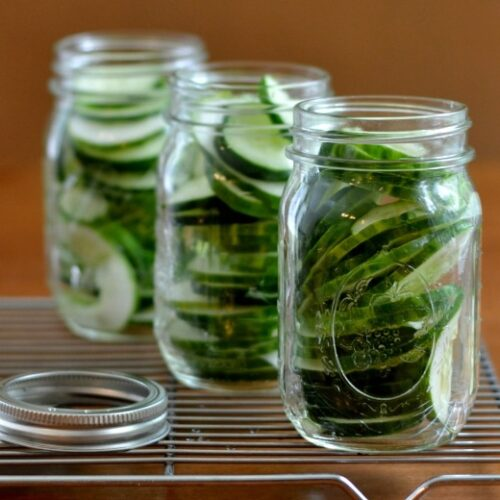 Homemade pickles are so easy to make with fresh cucumbers from the farmers market.