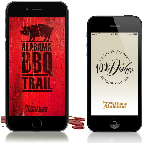 Alabama Tourism has food apps to help plan your foodie vacation.