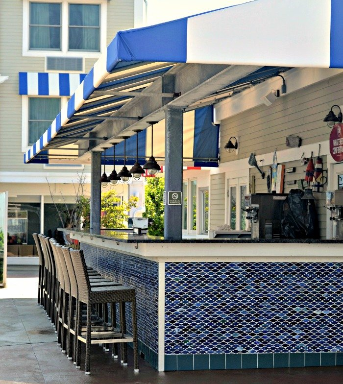 Poolside dining and an outdoor bar make the Sea Crest Beach Hotel a great spot on a summer day.