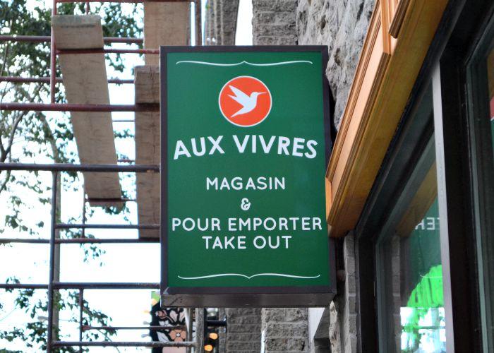 Aux Vivres is a great vegan restaurant in Montreal's Plateau neighborhood.