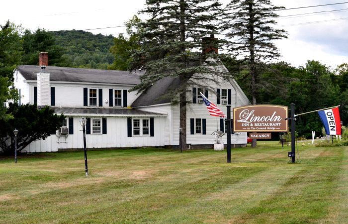 The Lincoln Inn and Restaurant at the covered bridge is a great place for a locavore meal in Woodstock, VT.