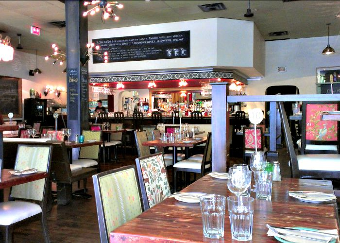 Robin des Bois is a great non-profit restaurant in Montreal that features healthy, locally sourced food.