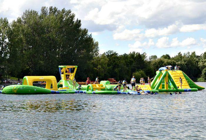 The Aquazilla in Montreal's Park Jean Drapeau is such a fun family activity!