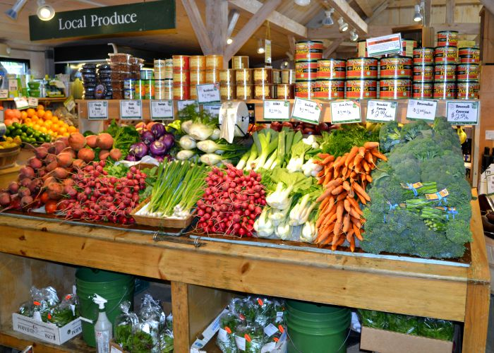 Fresh produce is on display at the Woodstock Farmers Market.