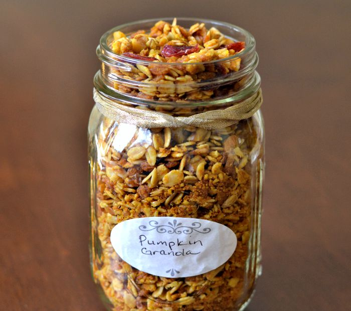 Pumpkin Granola is such a healthy, festive fall breakfast recipe!