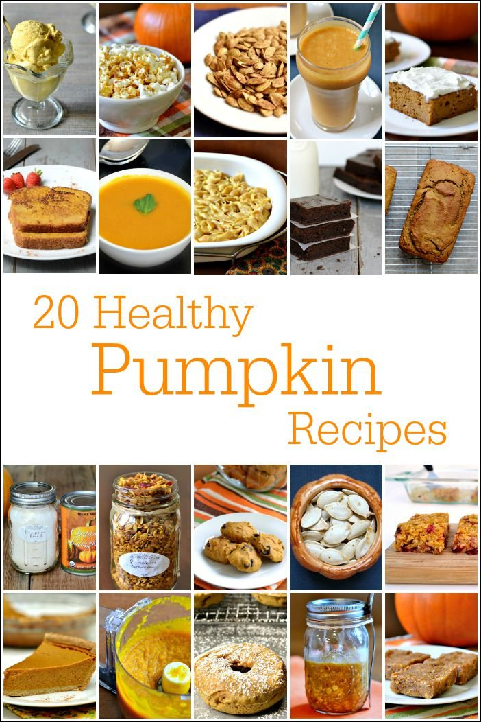 These 20 healthy pumpkin recipes cover breakfast, lunch, dinner, snack, and dessert. Savory and sweet, there's something for everyone!