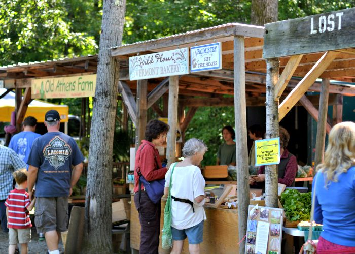 Brattleboro, Vermont has one of the best farmers markets in New England.