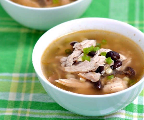 Southwestern Chicken Soup is a delicious, frugal, healthy dinner recipe.