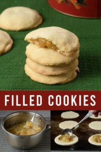 Filled cookies collage
