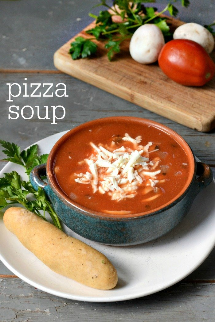 You'll love this pizza soup recipe for a fun spin on pizza night! Kids love the flavor, and you can customize this easy meal to suit your family's tastes.