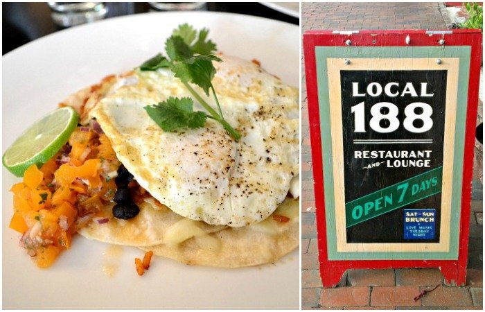 Local 188 offers a fantastic brunch in Portland, Maine!