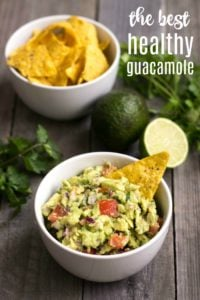 People will gather around this healthy guacamole recipe at your next party. This delicious, filling appetizer is addictive even though it's super healthy!