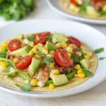 Old El Paso refried beans taste great in these slow cooker chicken tacos.