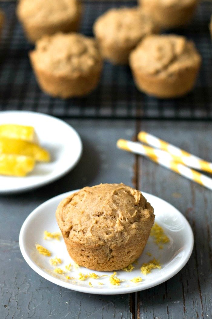 These lemon ricotta muffins are a healthy snack with a light texture and bright flavor. SUCH a delicious recipe for breakfast or snack time!