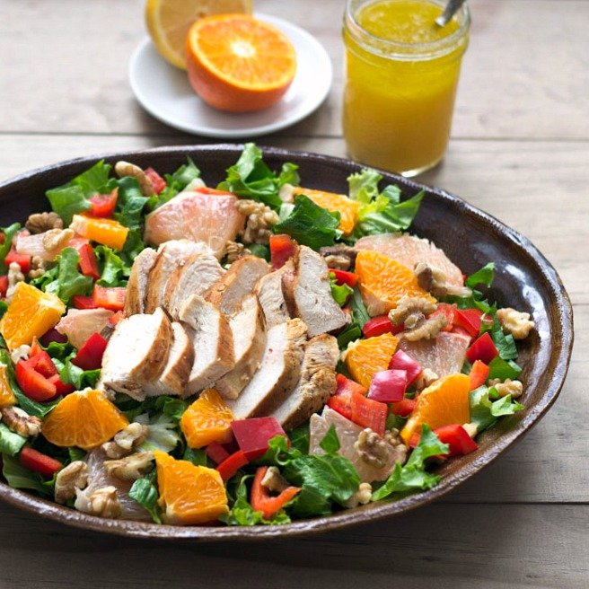 Grilled Chicken Salad Recipe Real Food Real Deals