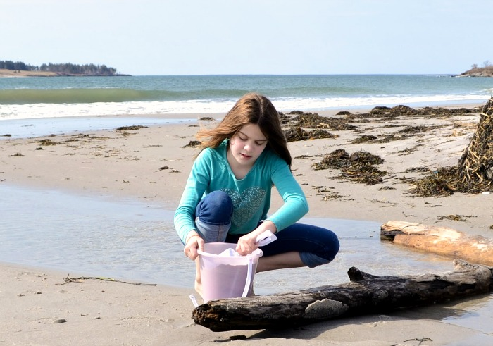 Crescent Beach is a beautiful spot for family fun on Cape Elizabeth, Maine.