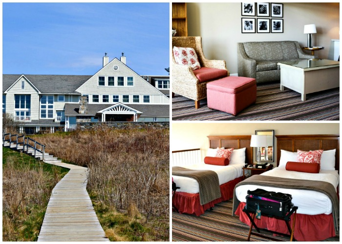 Spacious, beautiful guest rooms at Inn by the Sea, Maine