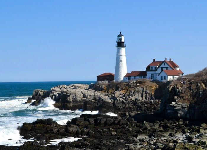 Portland Headlight is an iconic image in Cape Elizabeth, Maine.