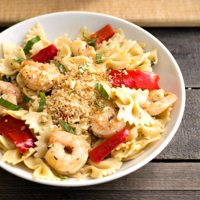 Hello Fresh shrimp pasta