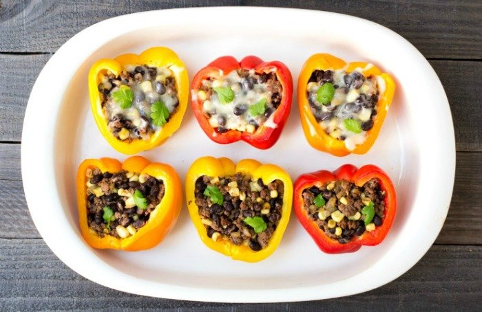 Make these taco stuffed peppers for a healthy twist on taco night!