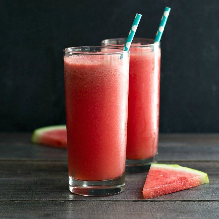 This watermelon slushie is the perfect refreshing summer drink! You have to try it! gluten-free, vegan