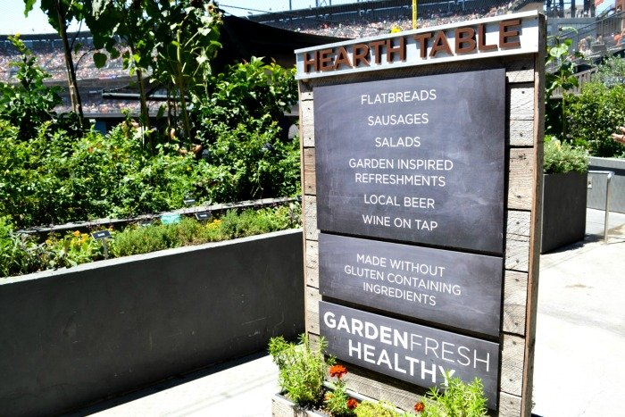 Giants' garden at AT&T Park - local food at the ballpark!