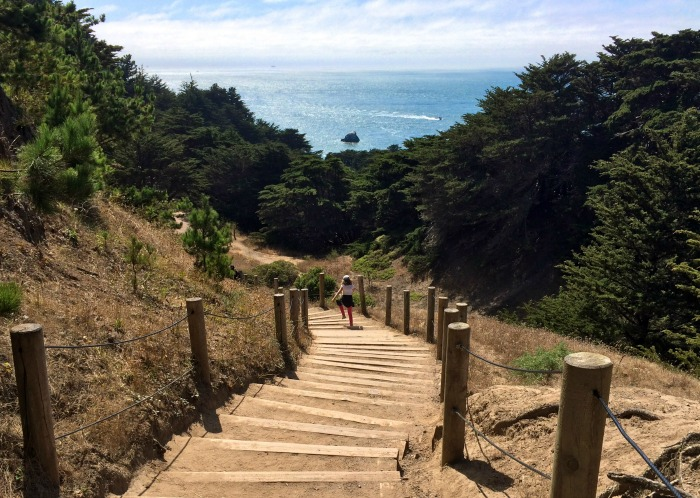 You'll get a great workout with breathtaking views at Lands End in San Francisco!