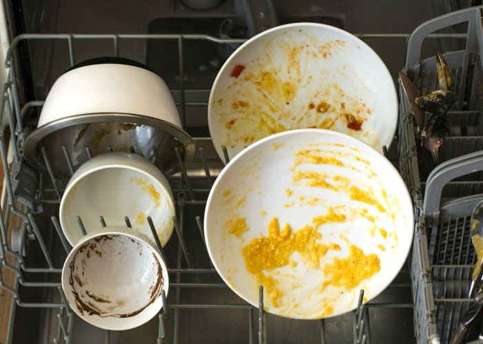 The ecover dishwasher tabs got these dishes totally clean!