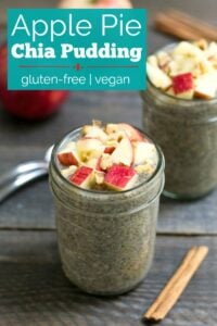 Apple pie chia pudding is a delicious gluten-free, vegan snack.