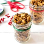 This roasted chili lime nut mix is a delicious homemade food gift for the holidays. It's also a healthy, addictive snack that you'll enjoy all year long!