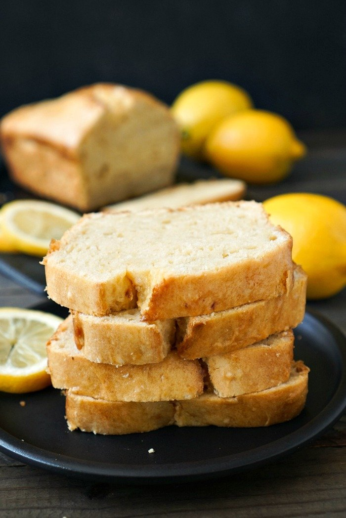 This gluten free lemon bread is bursting with delicious flavor. Try this easy recipe for a light, healthy snack any time of year. Recipe from realfoodrealdeals.com
