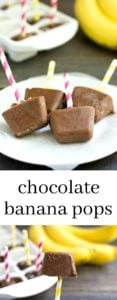 These chocolate banana pops are the perfect small bite dessert for summer! This gluten-free, vegan recipe is so quick and easy to make. Recipe from realfoodrealdeals.com