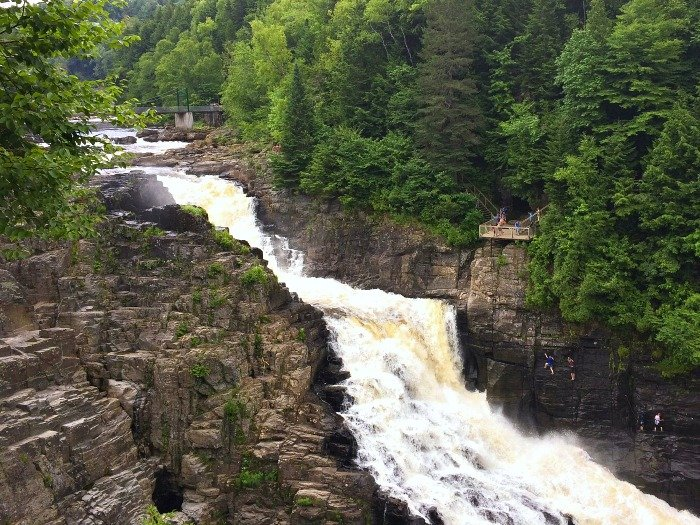 Canyon Sainte Anne is a great place for a day trip from Quebec City.