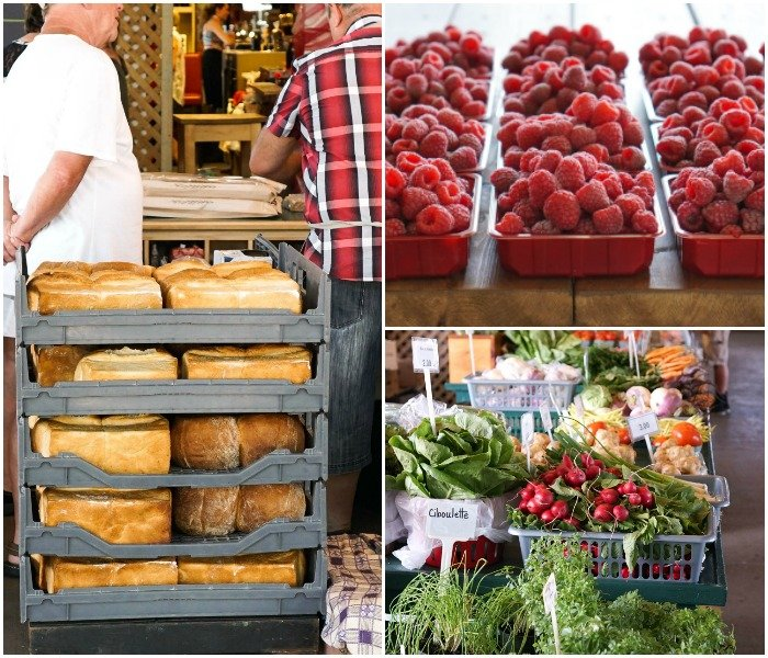 Le Marche du Vieux Port is a great place to buy locavore food in Quebec City.