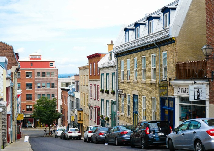 It's so fun to walk up and down the beautiful streets of Quebec City!