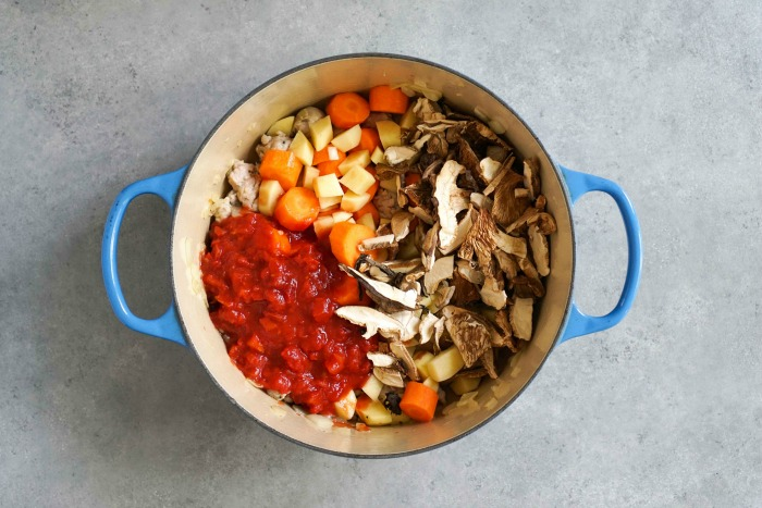 Lots of different flavors and colors come together in this hearty fall sausage lentil stew.