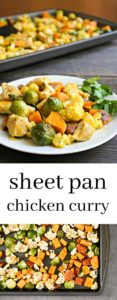 This sheet pan chicken curry with vegetables is an easy, delicious recipe. So much flavor is this healthy dinner!