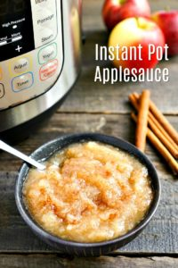 This Instant Pot Applesauce is perfect for apple picking season! It's a quick, easy, healthy fall recipe that everyone loves. #applesauce #instantpot
