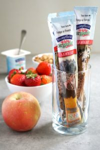 I'm excited that Stonyfield® Organic YoKids® yogurt now contains 25% to 40% less sugar than the leading kids' yogurt brand. It's the perfect addition to a healthy afterschool snack station!