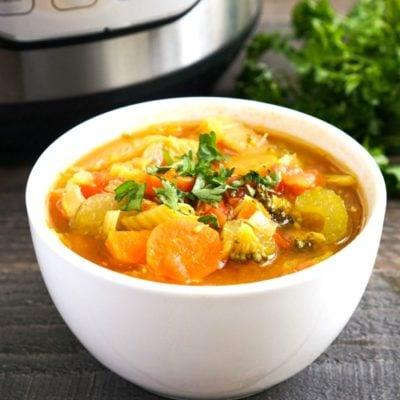 Instant Pot Detox Vegetable Soup Recipe