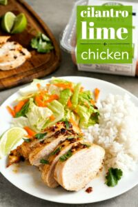 This cilantro lime chicken is an easy, healthy dinner recipe.