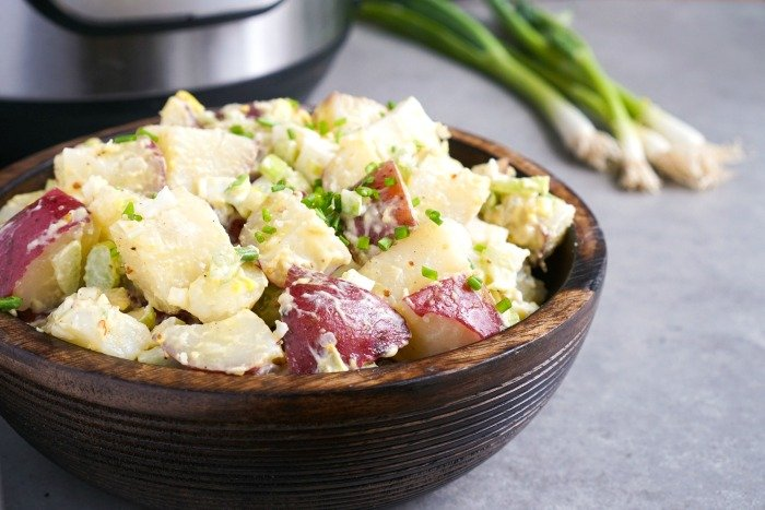 Instant Pot potato salad is so much easier to make than the stove top version!