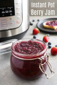 This Instant Pot berry jam is the easiest recipe for summer berries!