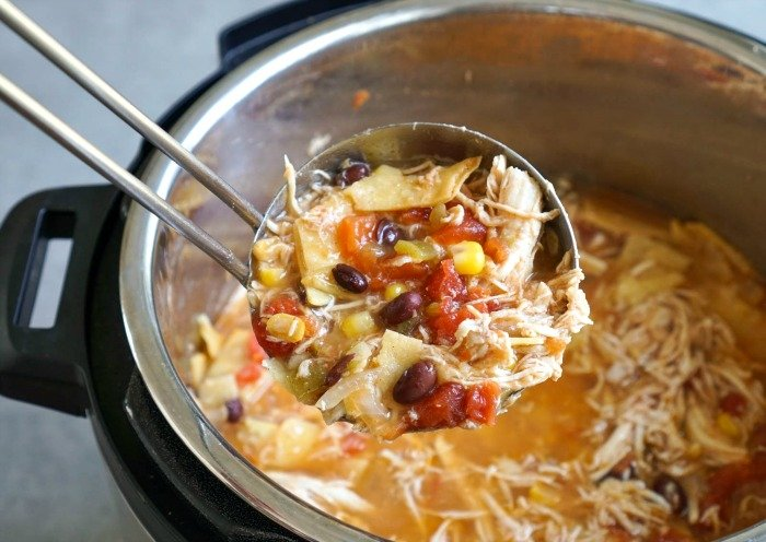 This Instant Pot chicken tortilla soup is full of so many delicious flavors!