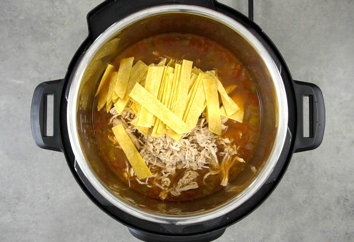 This Instant Pot chicken tortilla soup comes together so quickly!