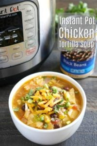 This Instant Pot Chicken Tortilla Soup is such a healthy dinner recipe!