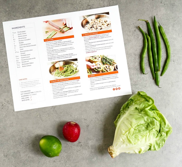 Chef'd meal kit instructions